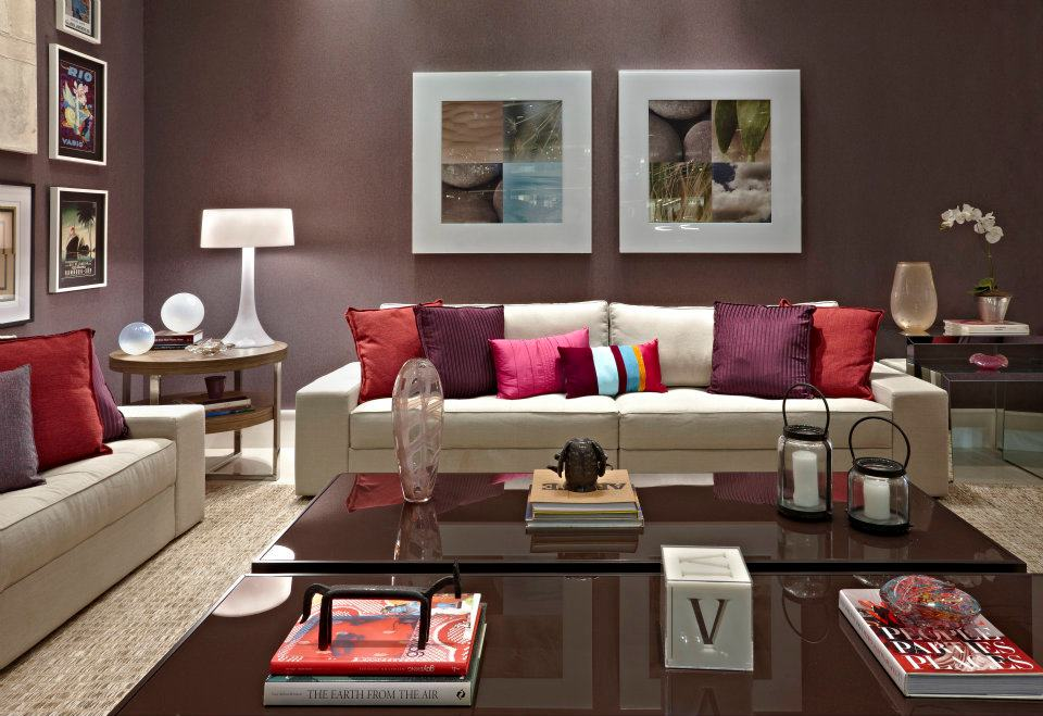 decoracao de sala estar : decoracao de sala estar:Carpet Colors with Burgundy Walls Living Room