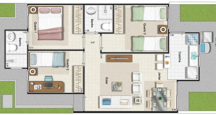 modelo-de-planta-com-tres-quartos