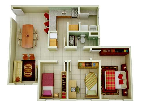11 modelos de plantas de casas pequenas para construir for Casa moderna 90m2