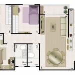 12 Modelos de Plantas de Casas com 3 Quartos