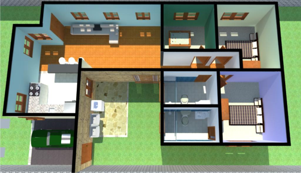 9 projetos de casas populares for Modelo de casa pequena para construir