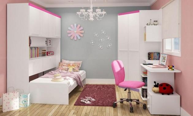 Ideias interessantes para Decoração de quartos juvenis ~ Quarto Planejado Juvenil Feminino