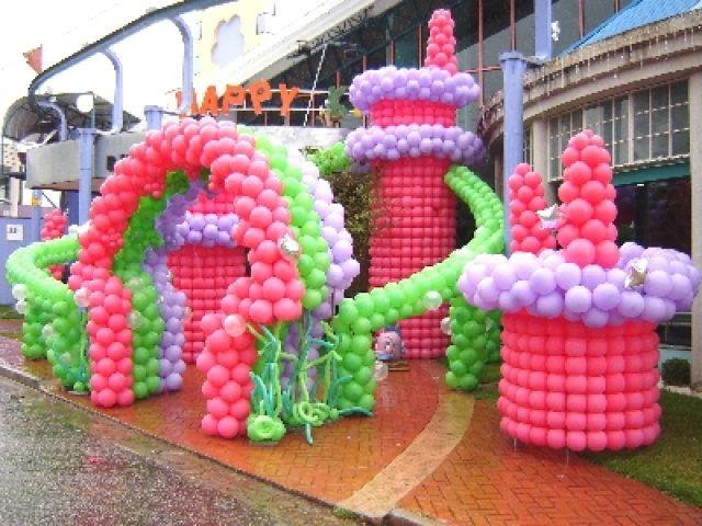 Decoração de festa infantil com balões