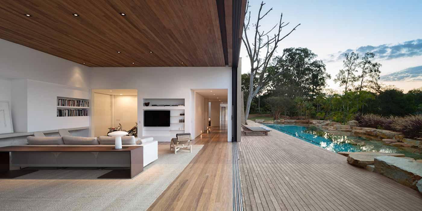 40 fotos de casas modernas para voc se apaixonar for Fotos de casas modernas brasileiras