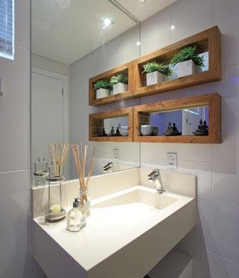 16 modelos de banheiros decorados com espelhos