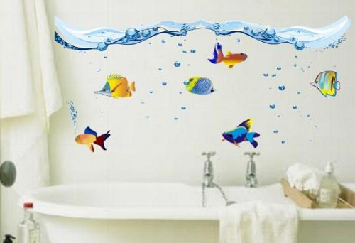 Adesivo na decoração de Banheiros