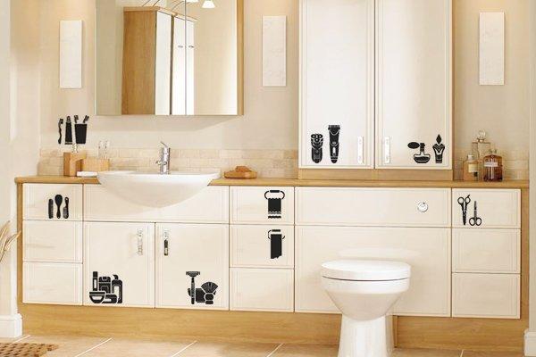 Modelos de Adesivos na decoração de banheiros