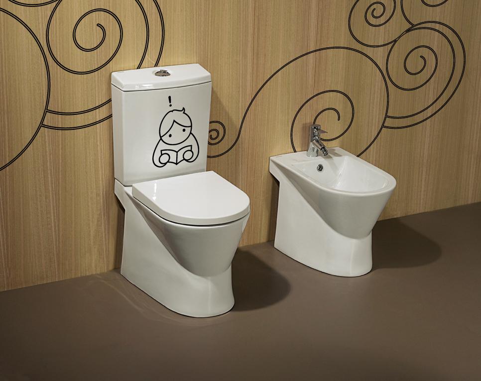 decoracao e banheiro:16 Exemplos de Adesivos para decoração de banheiros