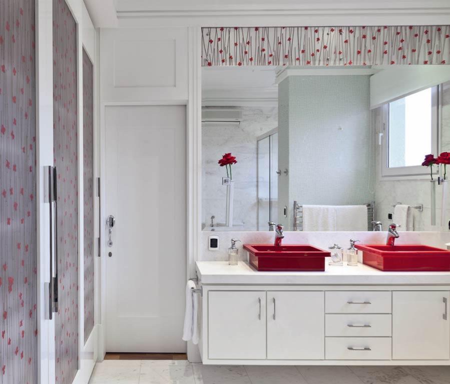 decoracao e banheiro:Decoração de banheiros com espelhos: 16 modelos para decorar