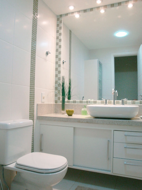 Banheiros Revestidos Simples : Decora??o de banheiros com espelhos modelos para decorar