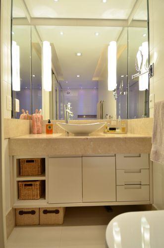 decoração do banheiro com espelho