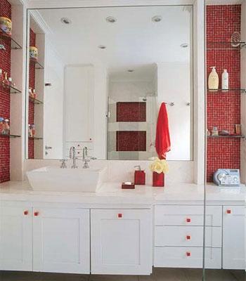 decoração de banheiros com espelhos