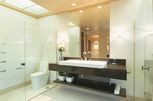 banheiros grandes com espelhos