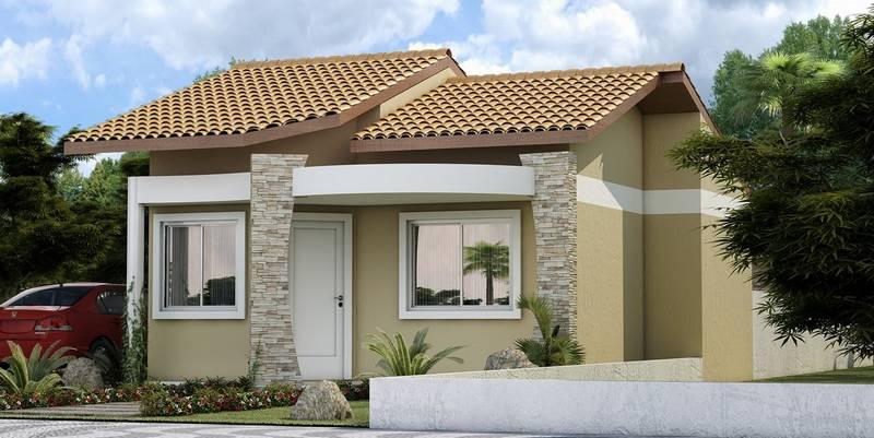 Fachadas de casas pequenas e simples 11 modelos for Casa minimalista chica