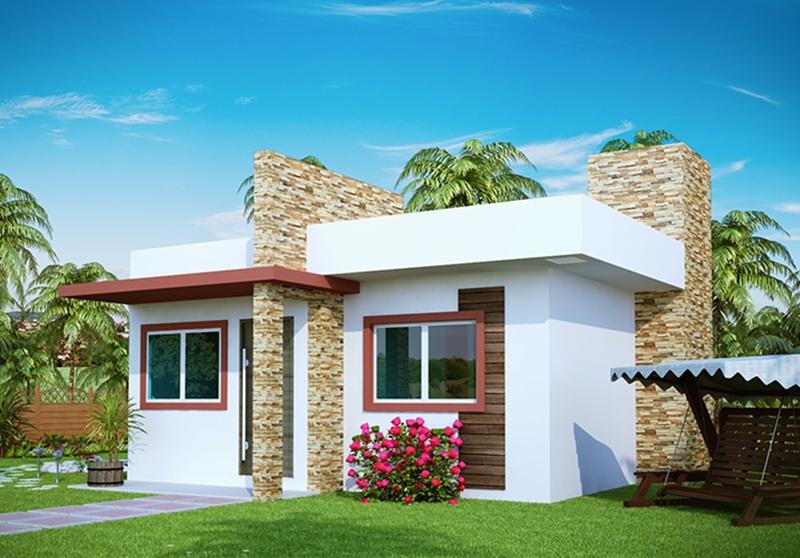 Modelos de fachadas casas peque as fachadas de casas for Casas pequenas y bonitas