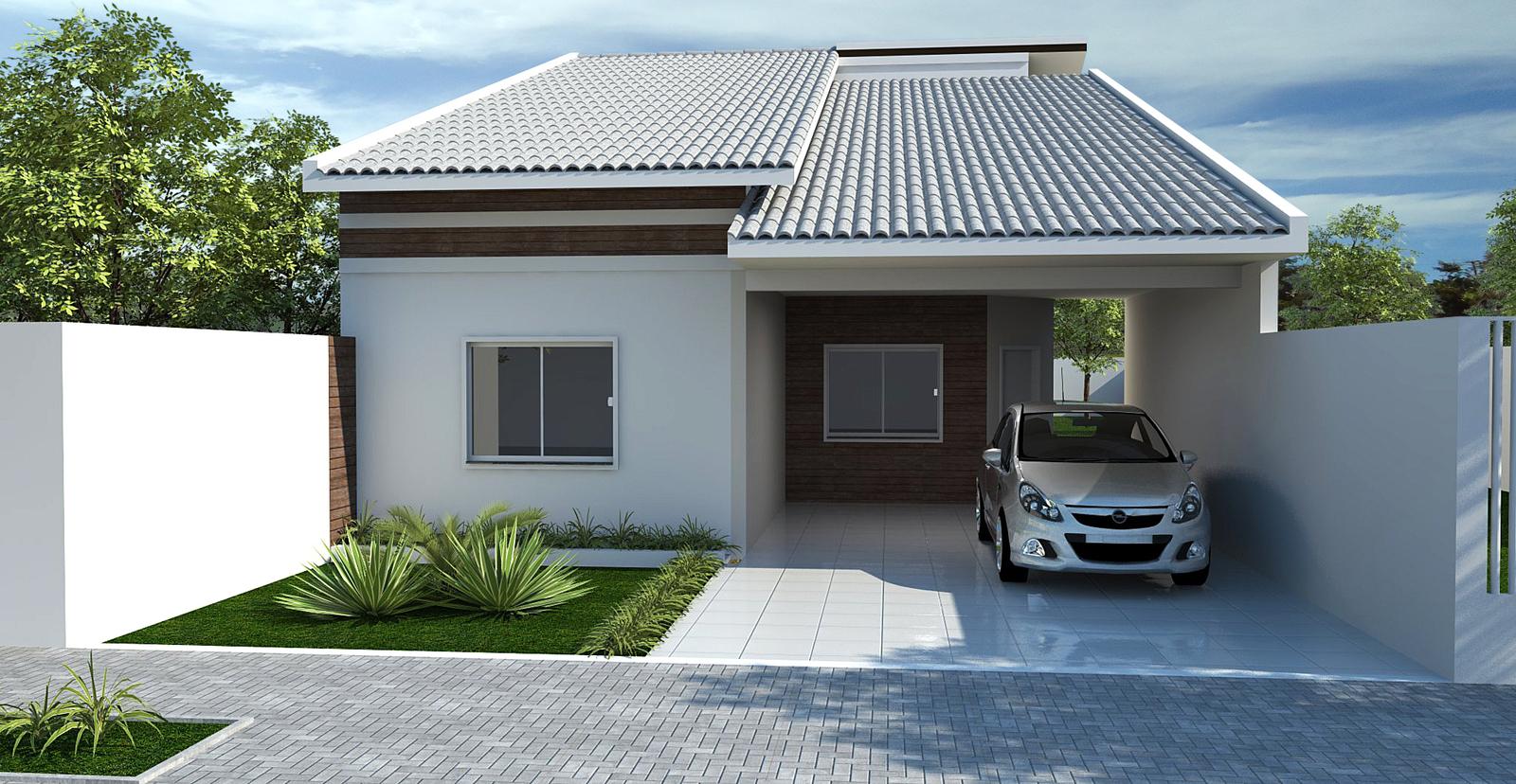 Fachadas de casas pequenas e simples 11 modelos for Modelos jardines para casas pequenas