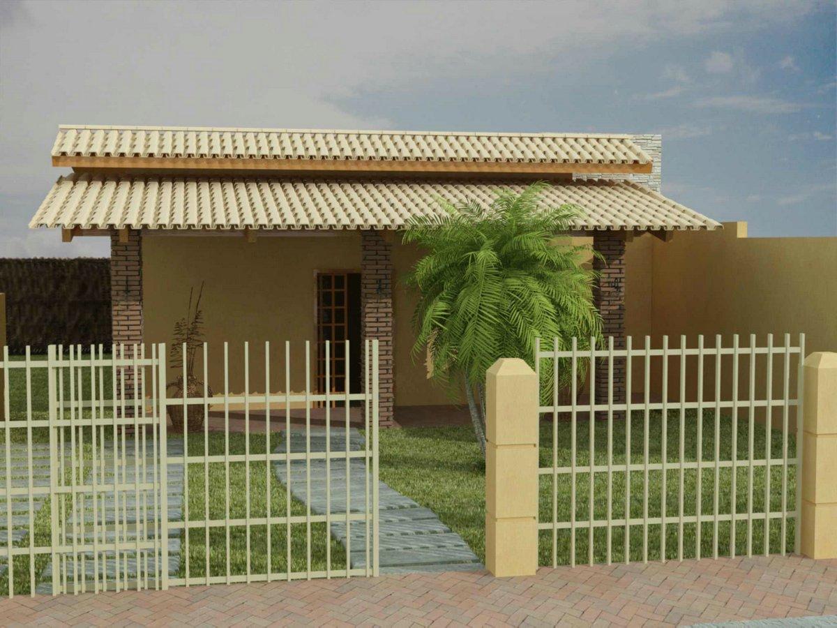 Fachadas de casas pequenas e simples 11 modelos for Casas casas