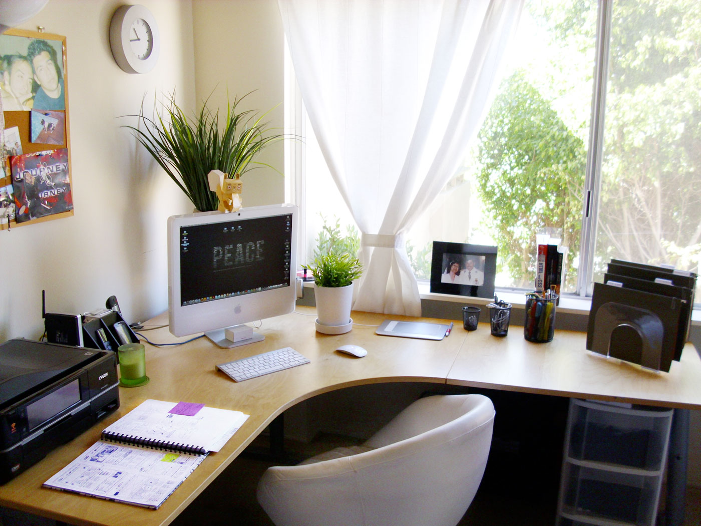 home office clean