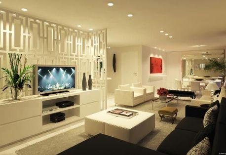 Modelos de salas grandes decoradas