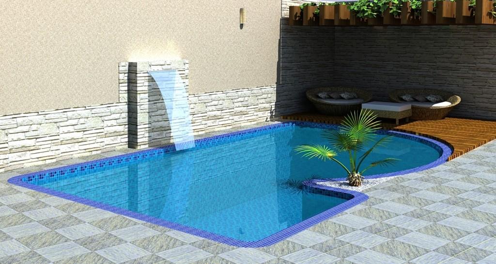 13 modelos de piscinas com cascata for Modelos de reposeras para piscinas