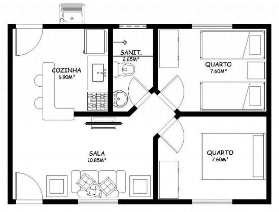 planos de casas pequenas y baratas