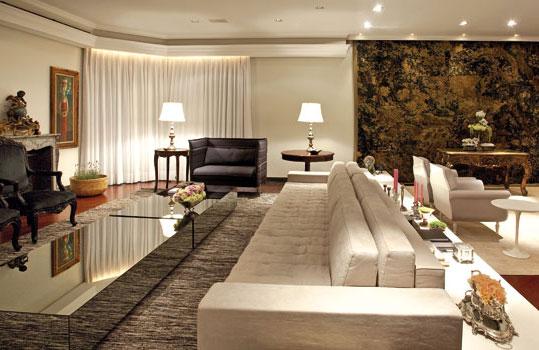 Decora o para salas grandes 14 modelos for Salas grandes decoracion
