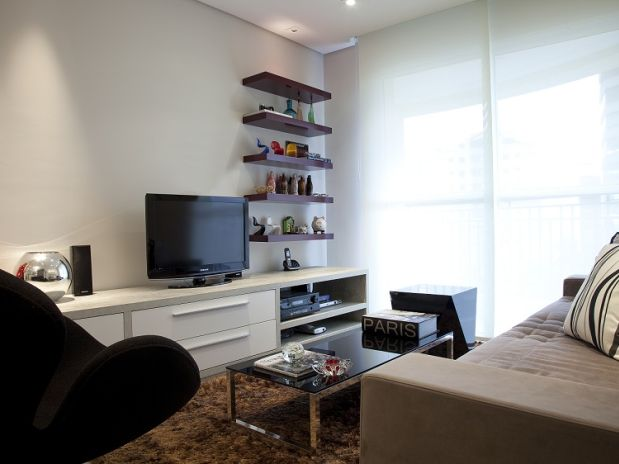 Sala Pequena Decorada Simples ~ sala pequena decorada e simples