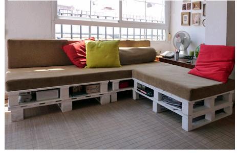 sofá de paletes