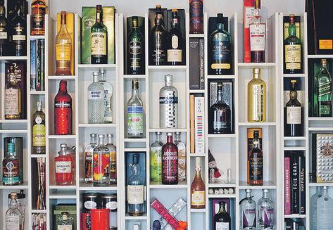 Bar em casa - Cantinho das bebidas