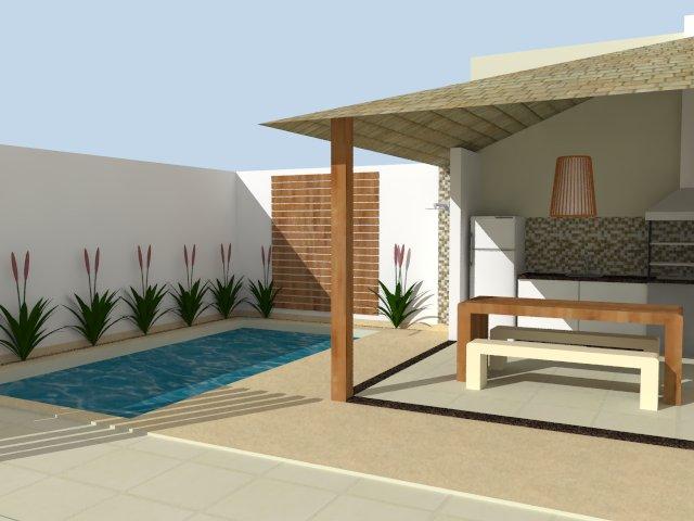 Rea de lazer simples com piscina 13 modelos - Modelos de piscinas fotos ...