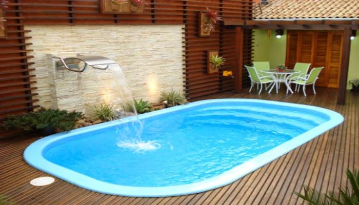 Rea de lazer simples com piscina 13 modelos - Modelos de piscinas pequenas ...