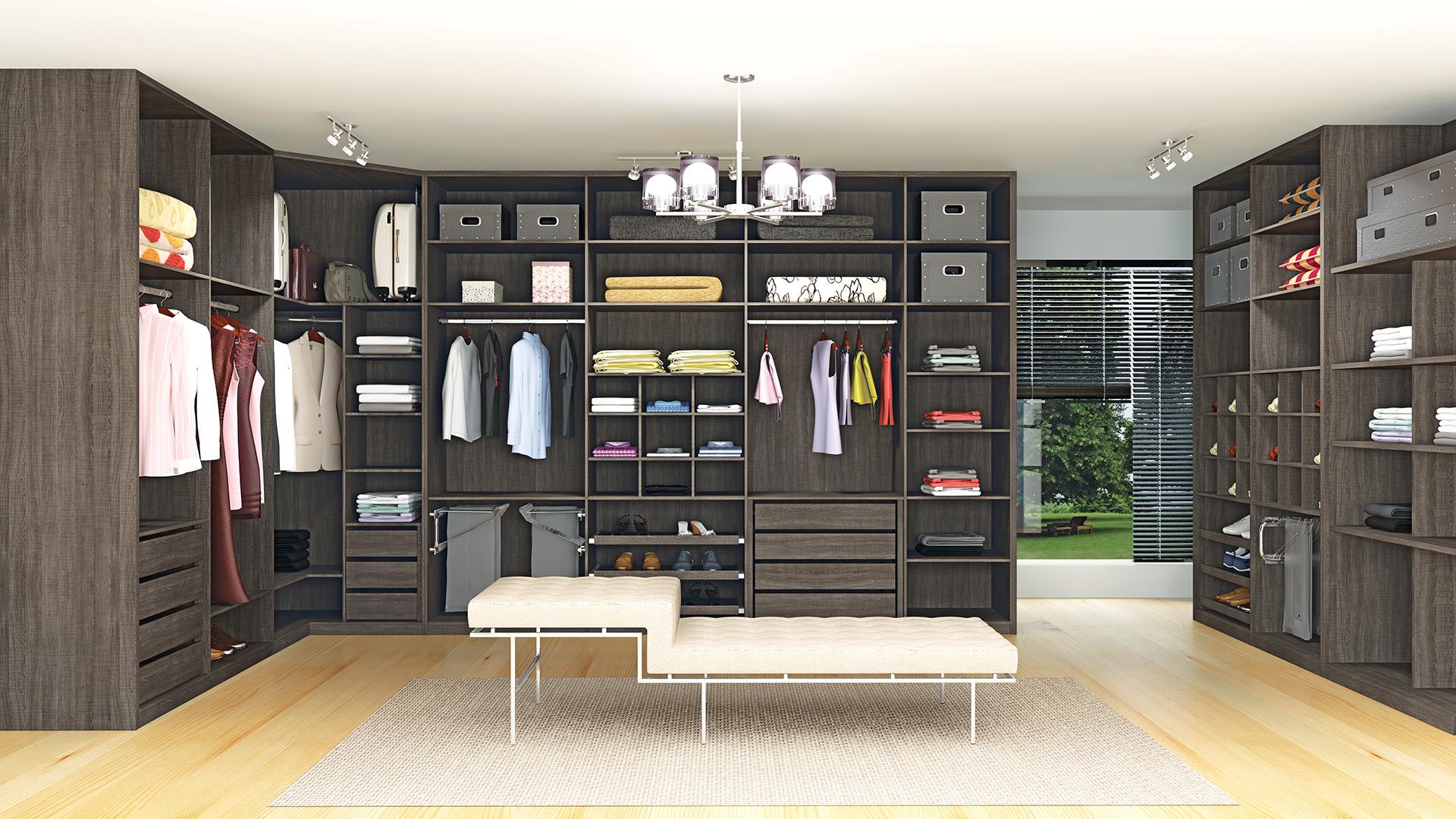 Closets planejados 28 modelos lindos for Modelos de zapateras en closet