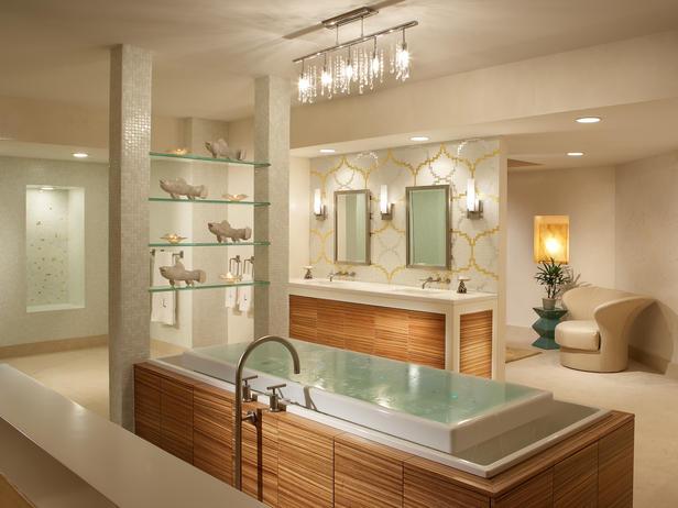 Banheiros Sofisticados decorados 20 Modelos -> Banheiro Pequeno E Classico