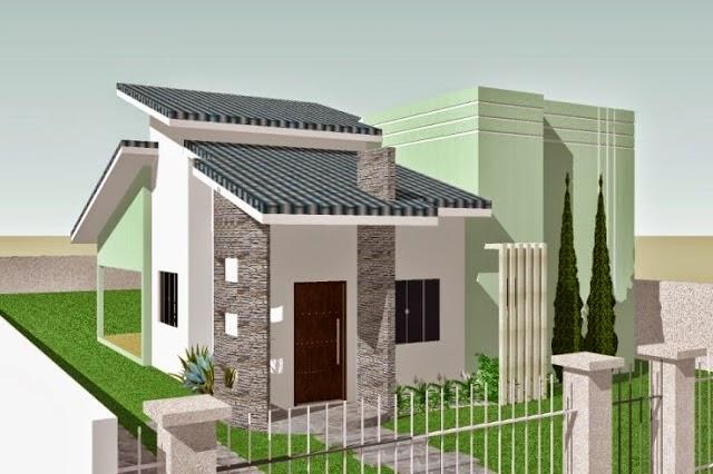 27 modelos de frentes de casas simples e modernas Fotos de patios de casas pequenas