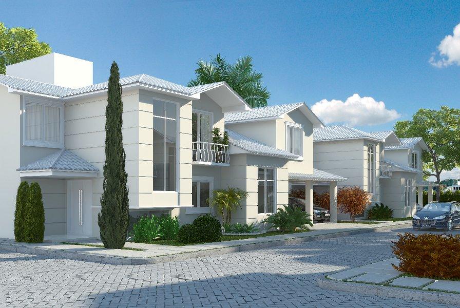 Modelos de telhado branco para casas for Modelos de casas fachadas fotos