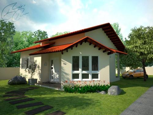 27 modelos de frentes de casas simples e modernas for Modelos de casas pequenas y bonitas