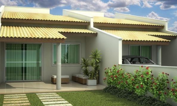 27 modelos de frentes de casas simples e modernas for Modelos de casas fachadas fotos