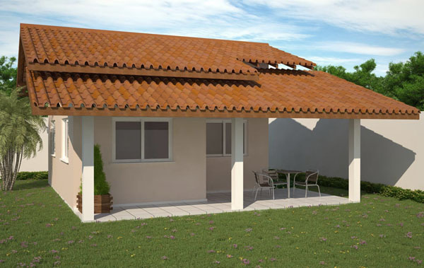 27 modelos de frentes de casas simples e modernas for Casas modernas simples