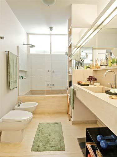 Banheiros Sofisticados decorados 20 Modelos -> Banheiro Pequeno Mas Lindo