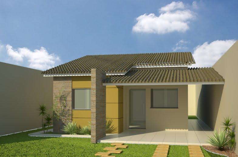 Modelos de casas pequenas 27 modelos e fachadas auto for Modelos de frentes de casas