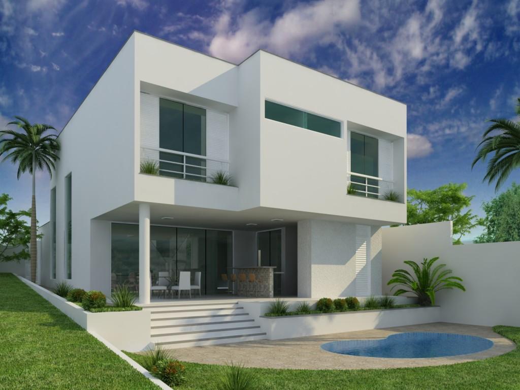 Modelos de fachadas de sobrados com varandas for Fachadas casas modernas