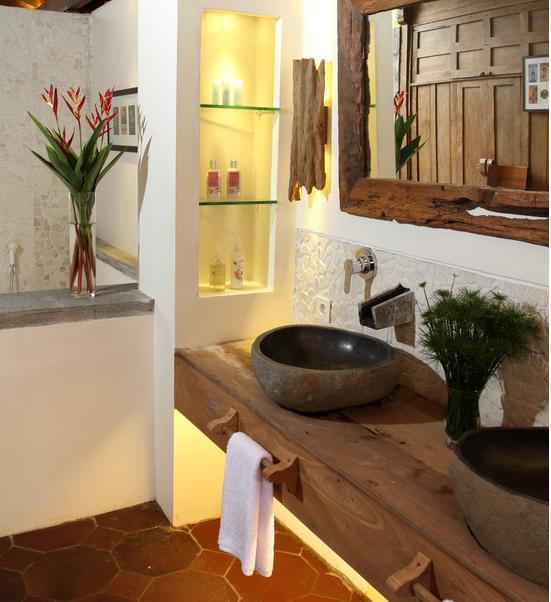 16 Modelos de Decoração de banheiros rústic -> Como Decorar Um Banheiro Com Banheira