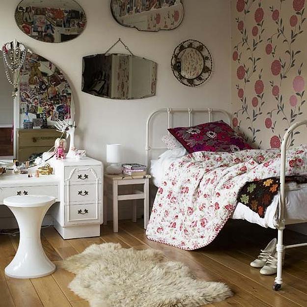 quarto-decorado-feminino-estilo-vintage