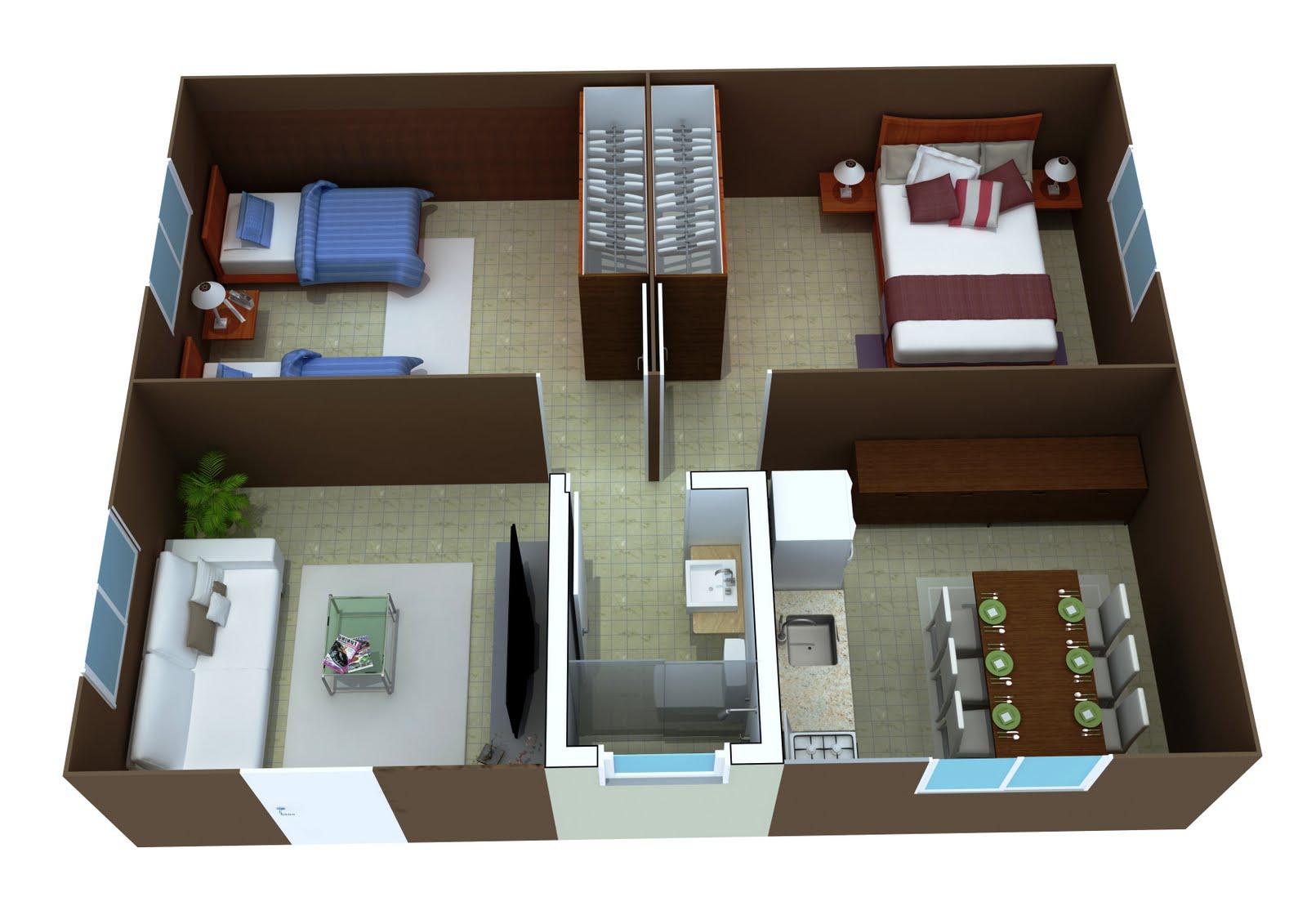 Modelos de plantas de casas em 3d gr tis for Simulador de casas 3d gratis