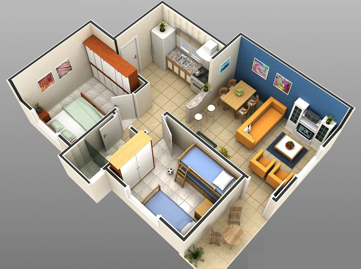 Modelos de plantas de casas em 3d gr tis - Plantas aromaticas en casa ...