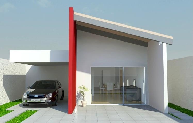 14 modelos de fachadas de casas pequenas for Modelo de casa pequena para construir