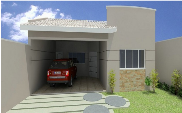 Fotos de fachadas de casas modernas e simples casa - Jardines de casas pequenas ...