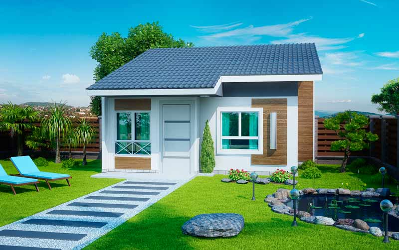 14 modelos de fachadas de casas pequenas for Modelo de casa de 4x6
