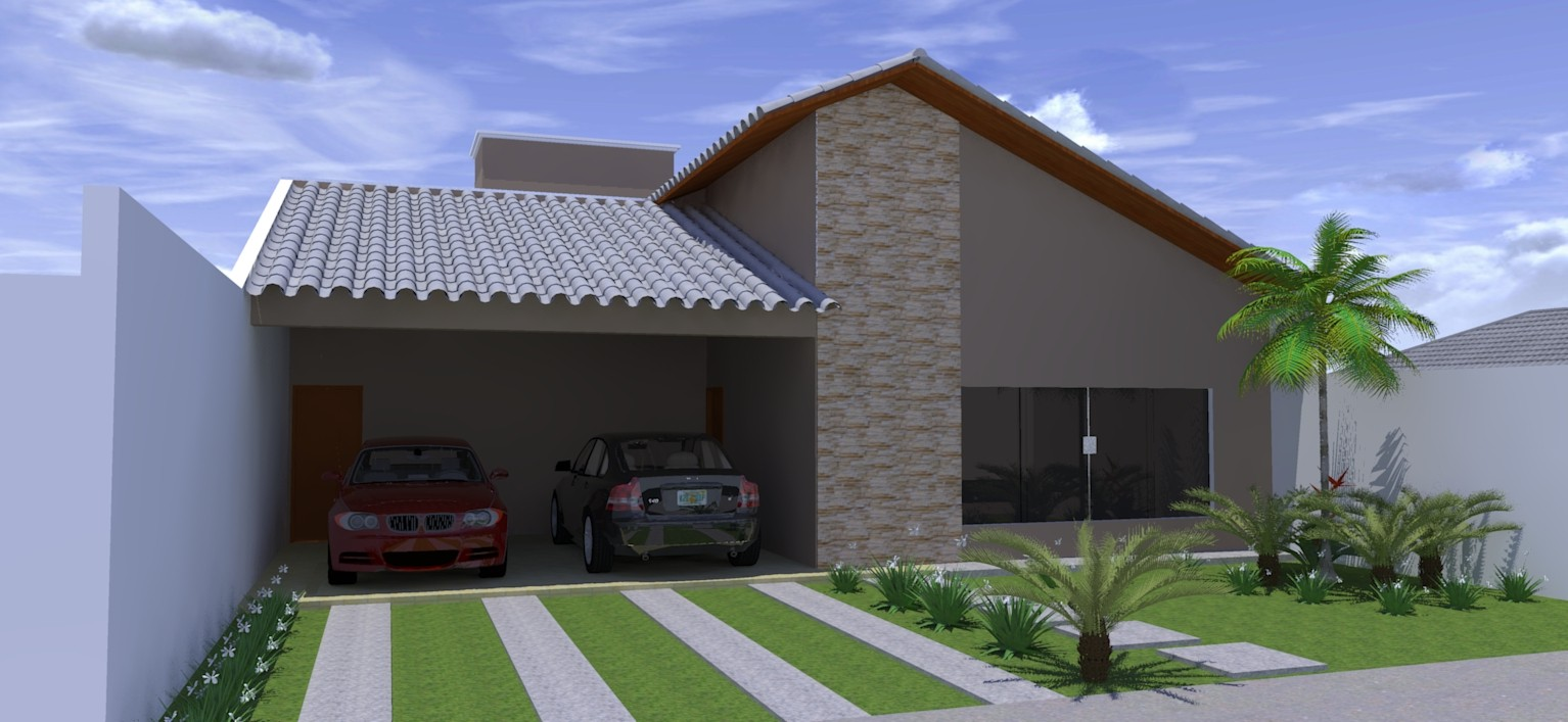 14 modelos de fachadas de casas pequenas for Modelos jardines para casas pequenas