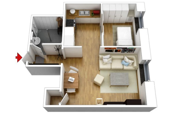 Como construir quitinetes dicas plantas e modelos for Modelos de mini apartamentos